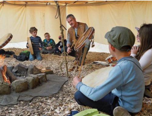 Der Ferienpass Aadorf zu Besuch im Kinder Indianer Tipi
